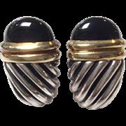 David Yurman Waverly Gold Sterling Earrings 14k