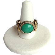 Reve Turquoise Ring Sterling 14K Size 9