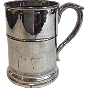 Silver Luster Tankard Antique