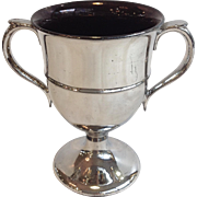 Silver Luster Loving Cup Antique