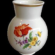 """Meissen Orange Poppy Vase 5"""""""