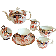 Group Royal Crown Derby Tea Servers 7 Pieces