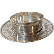 Childrens Sterling Bowl and Underplate Lebkuecher