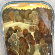 SOLD Russian Lacquer Box - Hand Painted Winter Scene Handpainted