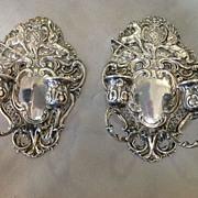 Pair German Silver Candle Sconces 800 Fine