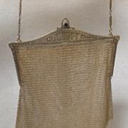 Whiting & Davis Fine Silver Mesh Handbag - Beautiful Frame