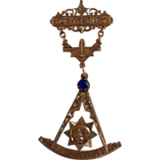 Vintage 10K Gold Large Two Part Masonic Pin