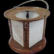 Lithopane Four Panel Decorative Porcelain Lamp
