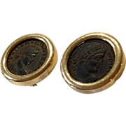 14K Coin Earrings in Yellow Gold