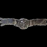 Shiebler Medallion Sterling Silver Scarf Pin