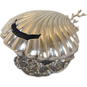 Silverplate Shell and Coral Spoon Warmer