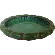 Large Fulper green to Pink Art Pottery Center Bowl
