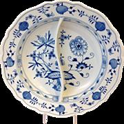 Meissen Blue Onion Pattern Divided Serving Dish