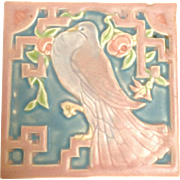 Rookwood Songbird and Roses Tile Trivet