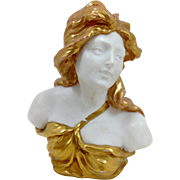 German Art Nouveau Bust 19th C.