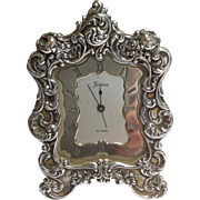 Gorham Sterling Easel Back Clock