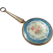 Sterling Enameled Mirror