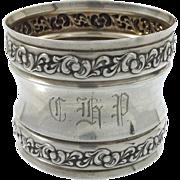 Webster Sterling Napkin Ring 'CHP'