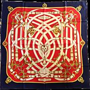 "Hermes Cavalcadour Silk Scarf 35"""