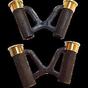 Hermes Bullet Cufflinks Sterling 18k