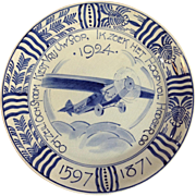 Delft Folker Aircraft First Flight Holland To Dutch East Indes Plate 1924