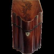 Georgian Mahogany Fitted Knife Box Late 18th c.