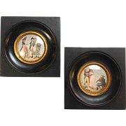 Pair Gilles Legrand Miniature Paintings 19th C.