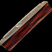 Sterling Hair Comb Art Deco Dresser Set