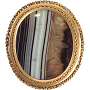 Agate Victorian Pin 14 Karat