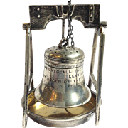 Liberty Bell Tea Ball And Stand Webster Sterling
