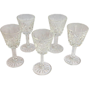 5 Waterford Lismore Liquor Glasses Small
