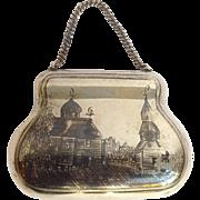 Niello Purse Box Russian Sterling