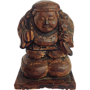 Daikoku Wood Carving Japan God of Wealth 19th c.