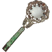 Jade Handle Magnifying Glass With Dragons Chinese Antique
