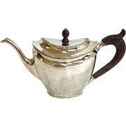 Dutch Sterling Tea Pot Circa 1828