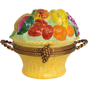 Limoges Fruit Basket Trinket Box by Chamart