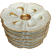Oyster Plates Limoges Haviland Group of Six