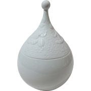 Rosenthal Magic Flute White Covered Candy Jar Björn Wiinblad