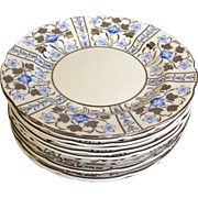 12 Wedgwood Luster Dinner Plates Pattern W2997