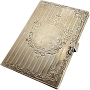 Calling Card Case With Mirror Sterling Circa 1900