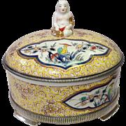 Buddha Box Cartier Sterling Mounts Samson Porcelain