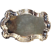 """Sterling Fluted Edge Rectangular Small 9"""" Tray"""