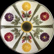 Wedgwood Majolica Chrysanthemum Flower Plate