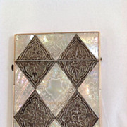 Silver and Mother of Pearl Calling Card Case