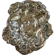 Unger Brothers Art Nouveau Lady Sterling Calling Card Tray