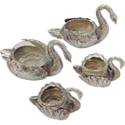 Group Four Silver Swan Salts Continental