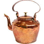 Antique Copper Tea Kettle 19th c