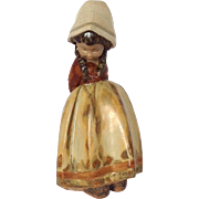 LLadro Terracotta Lady Figurine with Arms Behind Her Back