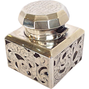 Sterling Overlay Inkwell C. 1801