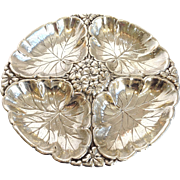 Wallace Geranium Sectioned Server Sterling